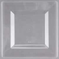 Visions Florence 6 inch Square Clear Plastic Plate - 10/Pack