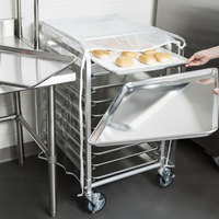 Regency 10 Pan End Load Half Height Bun / Sheet Pan Rack with Cover and 12 Pans - Unassembled
