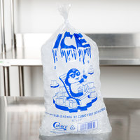 Choice 8 lb. Clear Wicketed Ice Bag with Ice Print - 1000/Case