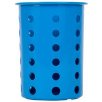 Steril-Sil RP-25-BLUE Blue Perforated Plastic Flatware Cylinder