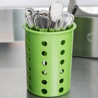 Steril-Sil RP-25-LIME Lime Perforated Plastic Flatware Cylinder