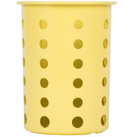 Steril-Sil RP-25-YELLOW Yellow Perforated Plastic Flatware Cylinder