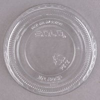 Solo 605TP 5 oz. Clear PET Non-Vented Flat Lid - 100/Pack