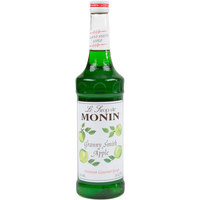 Monin 750 mL Premium Granny Smith Apple Flavoring / Fruit Syrup