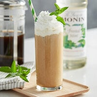 Monin 750 mL Premium Frosted Mint Flavoring Syrup