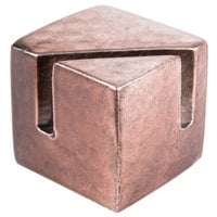 American Metalcraft BHCHS1 7/8 inch Square Hammered Copper Card Holder with Angled Cut