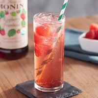 Monin 750 mL Organic Raspberry Flavoring / Fruit Syrup
