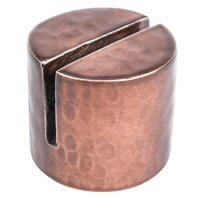 American Metalcraft BHCHD1 7/8 inch Round Hammered Copper Card Holder