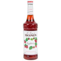 Monin 750 mL Premium Raspberry Flavoring / Fruit Syrup