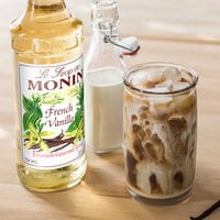 Monin 750 mL Premium French Vanilla Flavoring Syrup