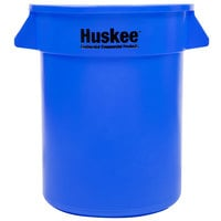 Continental 2000BL Huskee 20 Gallon Blue Round Trash Can