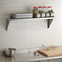 Regency 18 Gauge Stainless Steel 15 inch x 48 inch Solid Wall Shelf