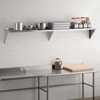 Regency 16 Gauge Stainless Steel 15 inch x 96 inch Heavy-Duty Solid Wall Shelf