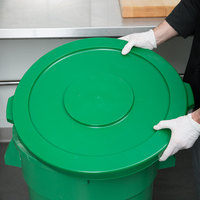 Continental 3201GN Huskee 32 Gallon Green Round Trash Can Lid