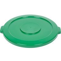 Continental 4445GN Huskee 44 Gallon Green Round Trash Can Lid