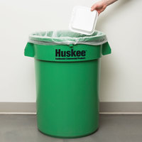 Continental 3200GN Huskee 32 Gallon Green Round Trash Can