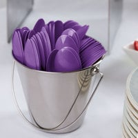 Creative Converting 318911 6 1/8 inch Amethyst Purple Heavy Weight Plastic Spoon - 288/Case