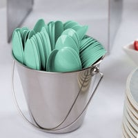Creative Converting 318872 6 1/8 inch Fresh Mint Green Heavy Weight Plastic Spoon - 288/Case
