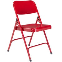 National Public Seating 240 Red Premium Metal Folding Chair