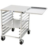 Channel RG101 8 Pan End Load Undercounter Work Top Sheet / Bun Pan Rack with Side Channels