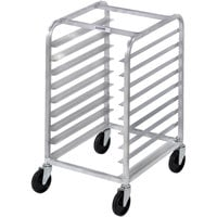Channel 430S 8 Pan Stainless Steel End Load Undercounter Sheet / Bun Pan Rack - Assembled