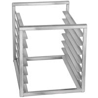 Channel RIR-10KD 10 Pan Aluminum End Load 20 1/2 inch x 23 inch x 23 inch Sheet / Bun Pan Rack for Reach-Ins - Unassembled