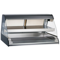 Alto-Shaam ED2-48/2S BK Black Two-Tiered Heated Display Case with Curved Glass - Self Service 48 inch