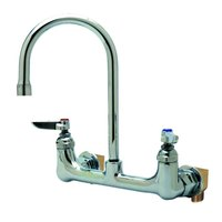 T&S B-0331-VF22-EL Vandal-Resistant Wall Mounted Faucet with 8 inch Adjustable Centers, 10 13/16 inch High Swivel Gooseneck, Eterna Cartridges, and Installation Kit