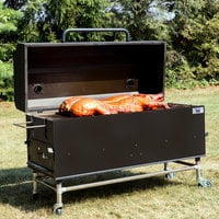 Backyard Pro 554SMOKR60AS 60 inch Charcoal / Wood Smoker Grill with Adjustable Grates and Dome - Assembled