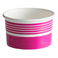 Choice 6 oz. Pink Paper Frozen Yogurt / Food Cup - 1000/Case