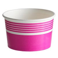 Choice 8 oz. Pink Paper Frozen Yogurt / Food Cup - 1000/Case