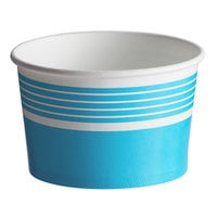 Choice 8 oz. Blue Paper Frozen Yogurt / Food Cup - 1000/Case