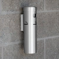 Aarco SS15W Satin Wall Mounted Cigarette / Ash Receptacle