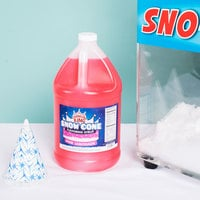Carnival King 1 Gallon Pink Lemonade Snow Cone Syrup - 4/Case