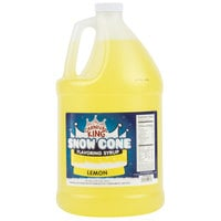 Carnival King 1 Gallon Lemon Snow Cone Syrup - 4/Case