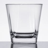 GET SW-1470-CL Cubed 9 oz. SAN Plastic Rocks / Old Fashioned Glass - 24/Case