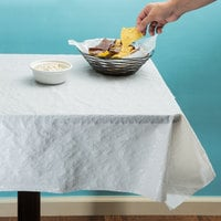 Atlantis Plastics 1504127 300' White Pebble Embossed Plastic Table Cover
