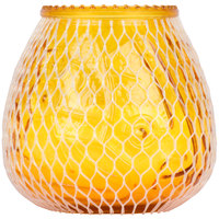 Sterno 40132 Euro-Lowboy 45 Hour Amber Wax Filled Glass Candle - 12/Case