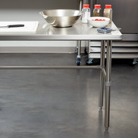 Regency 30 inch x 96 inch 16-Gauge 304 Stainless Steel Commercial Open Base Work Table
