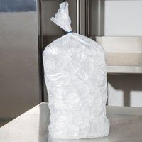 5 lb. Clear Plastic Ice Bag - 1000/Bundle