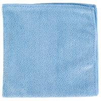 Unger ME40B SmartColor MicroWipe 16 inch x 16 inch Blue UltraLite Microfiber Cleaning Cloth   - 10/Pack