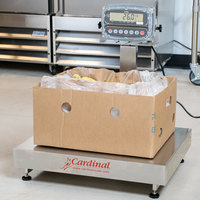 Cardinal Detecto EB-300-190 300 lb. Electronic Bench Scale with 190 Indicator and Tower Display, Legal for Trade