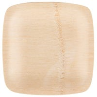 Bambu® 064300 Veneerware® 5 inch Disposable Square Bamboo Appetizer Plate - 100/Case