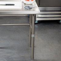 Regency 30 inch x 108 inch 16-Gauge 304 Stainless Steel Commercial Open Base Work Table with 4 inch Backsplash