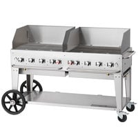 Crown Verity MCB-60WGP Liquid Propane 60 inch Mobile Outdoor Grill with Wind Guard Package