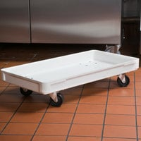 MFG Tray 805148-5269 16 inch x 30 inch White Fiberglass Dough Proofing Box Dolly
