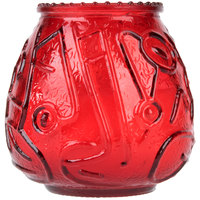 Sterno 40128 4 1/8 inch Red Venetian Candle - 12/Pack