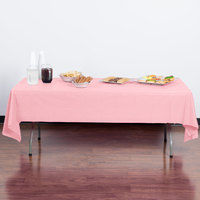 Creative Converting 014016B 54 inch x 108 inch Classic Pink Disposable Plastic Table Cover - 24/Case