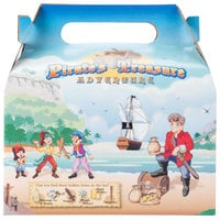 6 7/16 inch x 4 inch x 3 3/4 inch Kids Take-Out Meal Box with Pirate Design - 96/Case