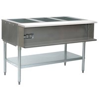 Eagle Group AWT4 Natural Gas Four Pan Water Bath Steam Table - Sealed Well